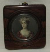 Миниатюра портрет, рамка старинная, не рисунок №5891