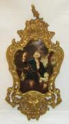 Фоторамка старинная «Охота», рамка для фото с портретом №7408